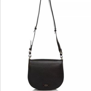 Fraces Valentine Ellen Small Flap Saddle Bag Black